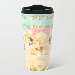 Bunny Composition (gold/mint) Metal Travel Mug