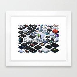 A Pixel Retrospective 2 Framed Art Print