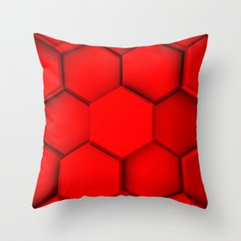 red hexgons.0 Throw Pillow