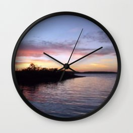 Sunset on Kentucky Lake Wall Clock
