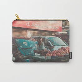 MAN VENDING APPLES NEAR PARKED CARS Carry-All Pouch