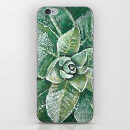 Layers of Green - Mullein Herb Plant Painting/Study iPhone Skin