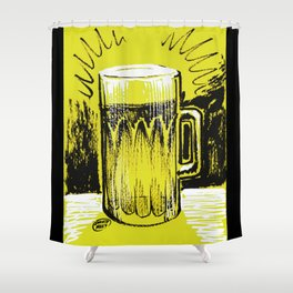 Beer_Yellow Shower Curtain