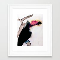 toucan Framed Art Prints featuring toucan by Kay Weber