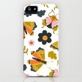 Pattern Insects and Nature iPhone Case