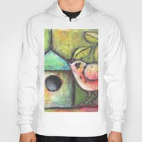 shopping Hoodies featuring House Shopping by Terri Stegmiller