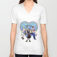 kingdom hearts V-neck T-shirts featuring Kingdom Hearts by clayscence