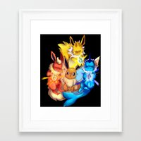 eevee Framed Art Prints featuring EEVEE by Rosie