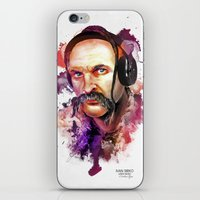 paramore iPhone & iPod Skins featuring Cossack Ivan Sirko listen music by Sitchko Igor