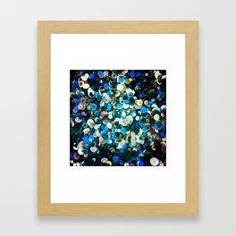 blue butons Framed Art Print