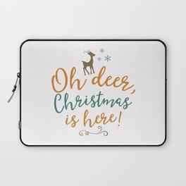 Oh Deer, Christmas is here Laptop Sleeve