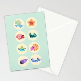 Hermit crab & starfish Stationery Cards