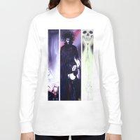 sandman Long Sleeve T-shirts featuring Sandman: Triptych by kenmeyerjr