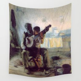 The Banjo Lesson by Henry Ossawa Tanner Wall Tapestry