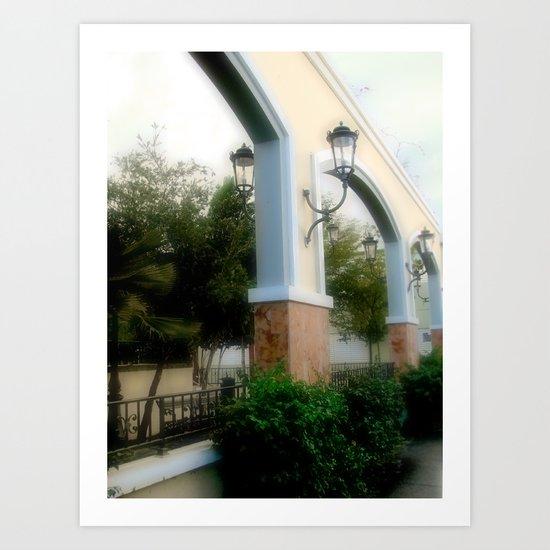 Plaza de Rincon Art Print