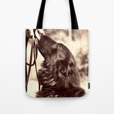 The love of a dog to man Tote Bag
