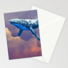 World Whale Watching in the Clouds Stationery Cards