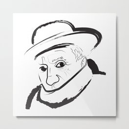 Picasso Drawing Metal Print