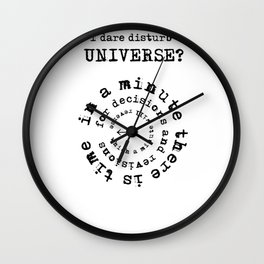 in a minute Wall Clock