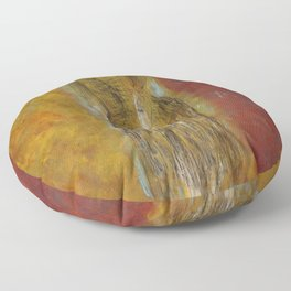 womanJapanese painting Floor Pillow