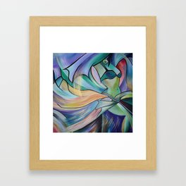 Middle Eastern Belly Dance With Pastel Veils Framed Art Print