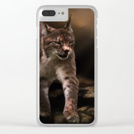 Into The Light - Lynx Art Clear iPhone Case