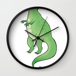 green dino Wall Clock