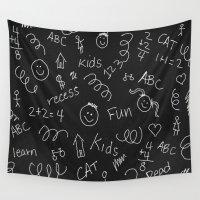 teacher Wall Tapestries featuring School teacher #5 by Juliana RW