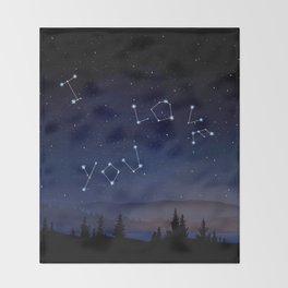 I love You Stars Design Throw Blanket