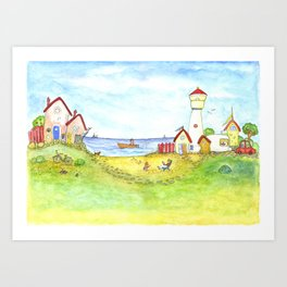 At the seaside Art Print