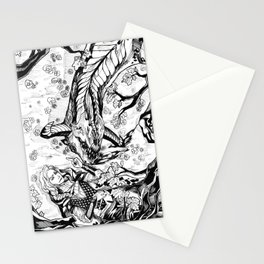 Flower Wyvern Stationery Cards