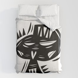 Calavera no chilla Duvet Cover