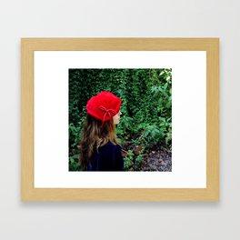 Girl in the Red Beret Framed Art Print