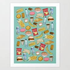 Schoollunch Art Print