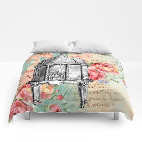 Vintage Flowers #19 Comforters