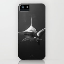 Hammerhead Shark (Black and White) iPhone Case