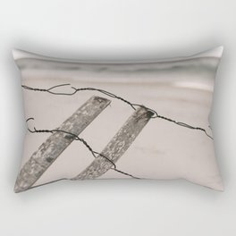 Santa Rosa Beach fence Rectangular Pillow