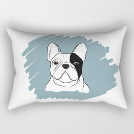 Black and White Frenchie Rectangular Pillow