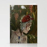 princess mononoke Stationery Cards featuring mononoke by Devon Busby Busbyart