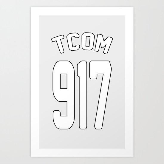 TCOM 917 AREA CODE JERSEY Art Print