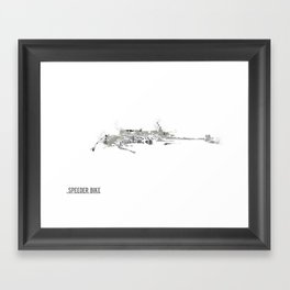 Star Wars Vehicle Speeder Bike Framed Art Print