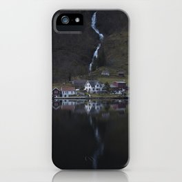 River that vanishes (Fjord) iPhone Case
