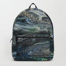 Dreams of the Ocean grey blue silver abstract creatures floating deep sleep Backpack