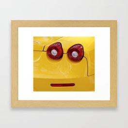 Smile Farrari Framed Art Print