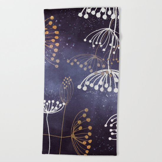 WONDERGARDEN ROSEGOLD BLUE Beach Towel