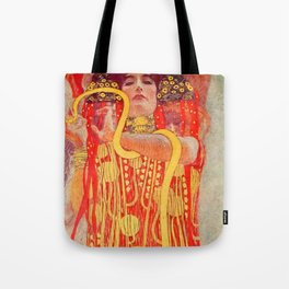 "Gustav Klimt ""University of Vienna Ceiling Paintings (Medicine), detail showing Hygieia"" Tote Bag"