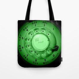 The dialer dials green Tote Bag