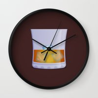 whiskey Wall Clocks featuring Whiskey by Rob Barrett — Nice Hot Cuppa