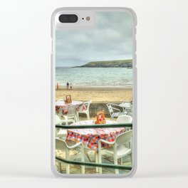 Cafe on the Beach Clear iPhone Case