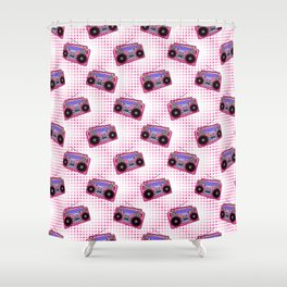 Boombox / Pink Shower Curtain